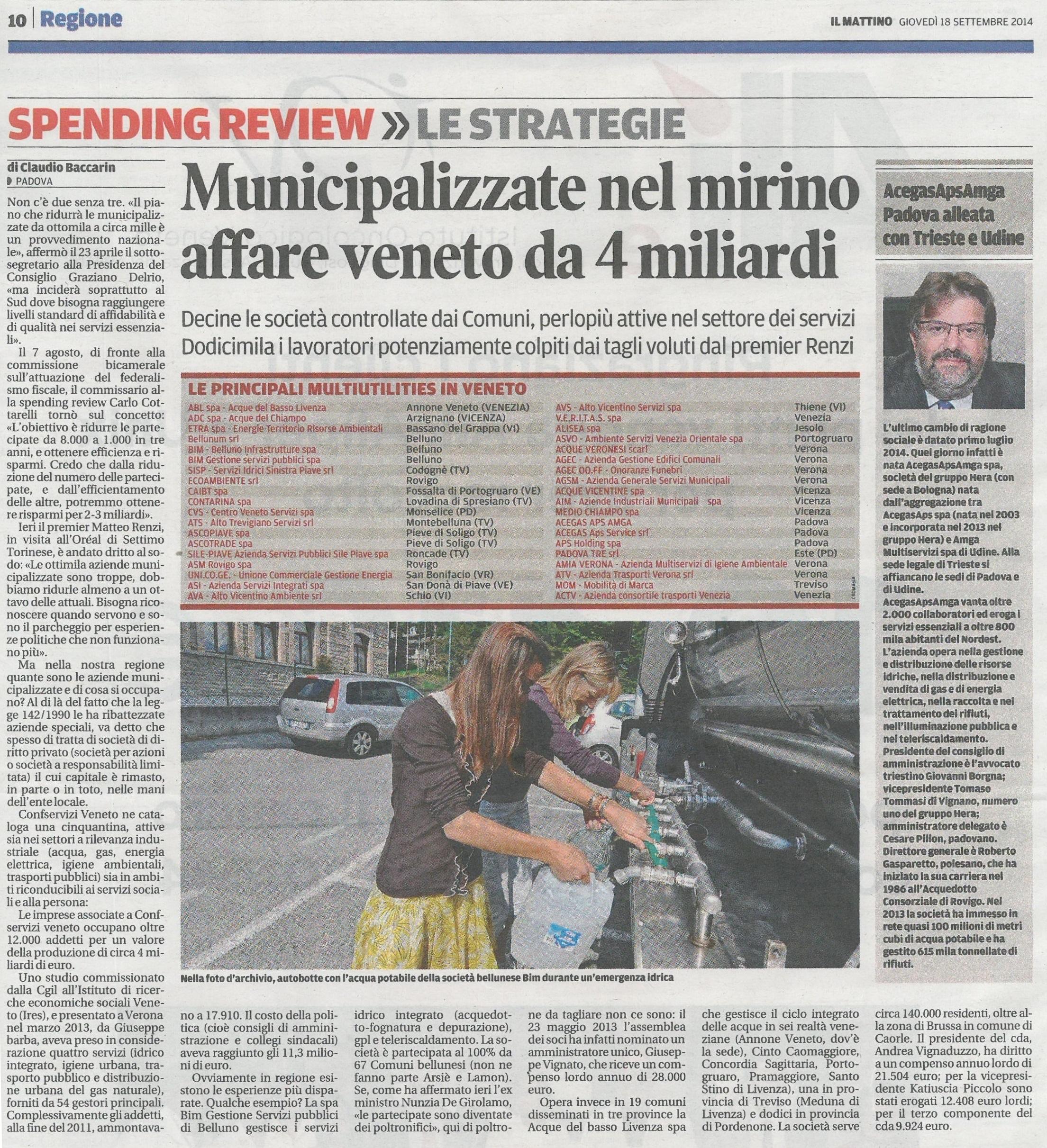 Spending review – municipalizzate nel mirino
