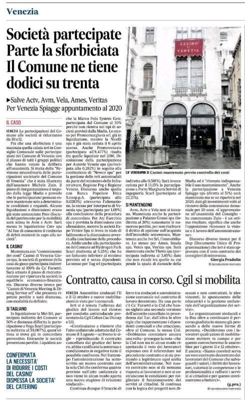 Gazzettino, 29 settembre 2017
