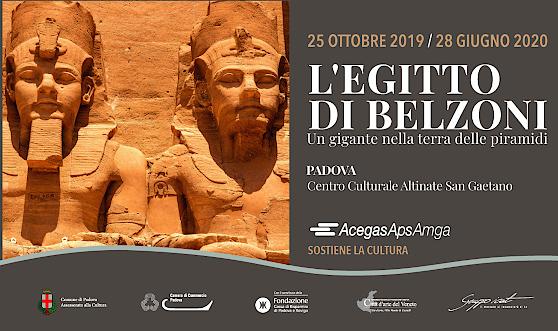 Ingresso scontato per i clienti AcegasApsAmga alla mostra sull'Egitto e Belzoni in programma a Padova