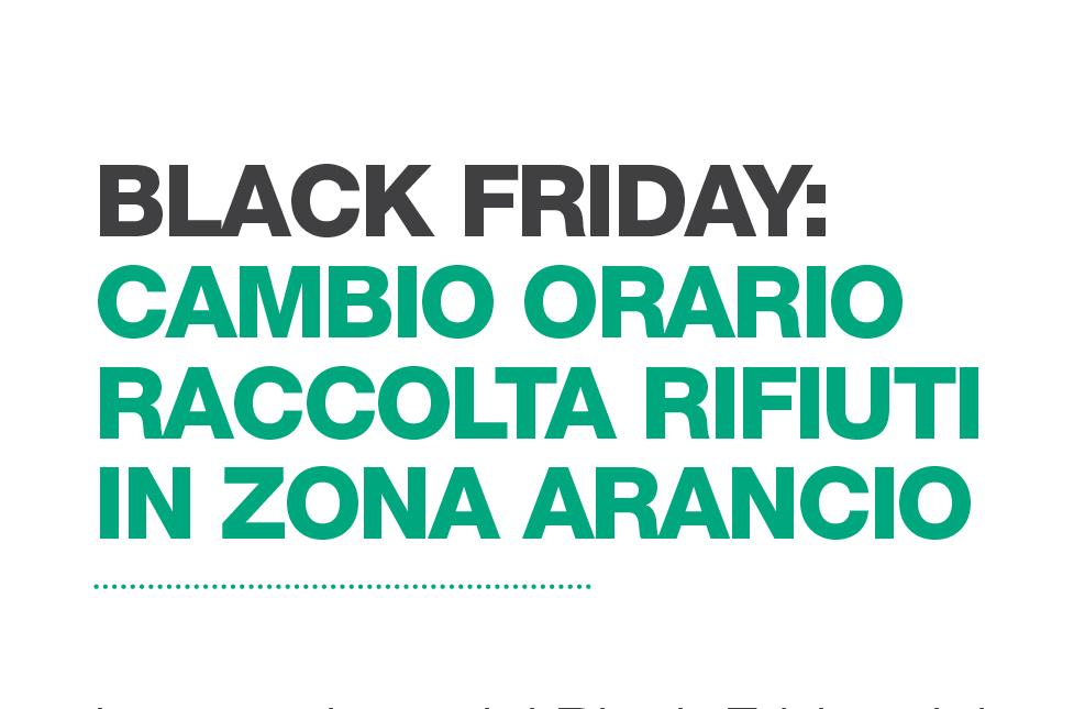 """Per il """"black friday"""" a Padova cambia l'orario di raccolta rifiuti in zona arancio"""