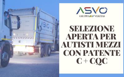 Selezione della società Ambiente Servizi Venezia Orientale per autista con patente C + CQC