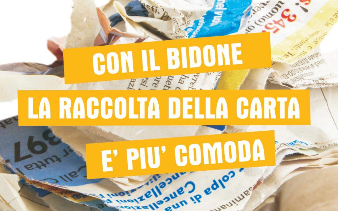Ecoambiente avvia la consegna dei contenitori carrellati per la carta a Occhiobello e Adria
